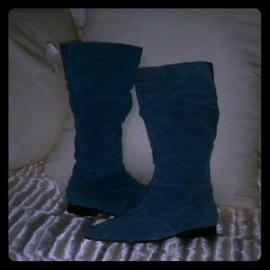 Blue Suede Boots